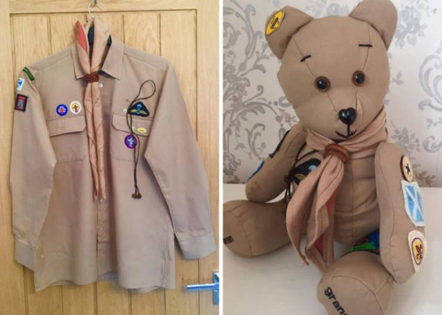 """""""Memory Bears"""" From Old Clothes  (25 pics)"""