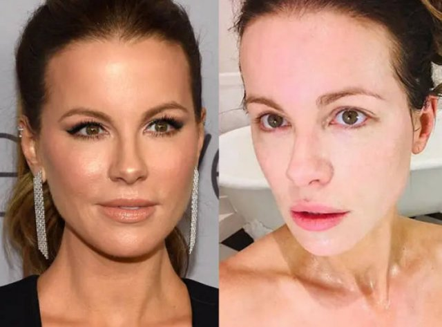 Famous Women With And Without Makeup (24 pics)