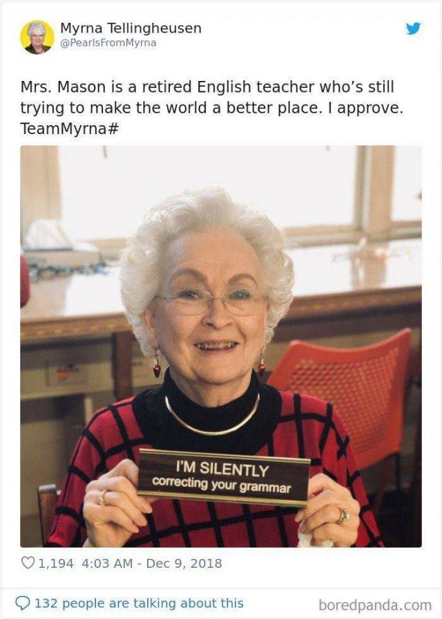 Myrna Wisdom Memes (30 pics)