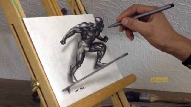 Incredible 3D Optical Illusion Drawings (48 pics)