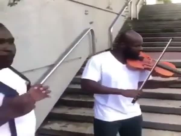 Guy Raps And The Other Guy Plays Violin