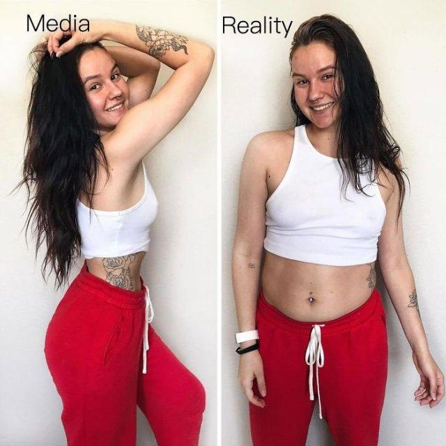 Health Blogger Shows Instagram vs Reality Photos (25 pics)