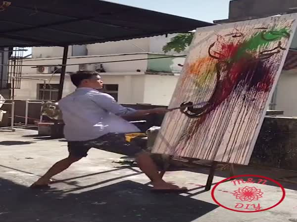 This Guy Doing His Painting