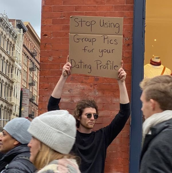Guy With A Sign Shows Off Funny Statements (21 pics)