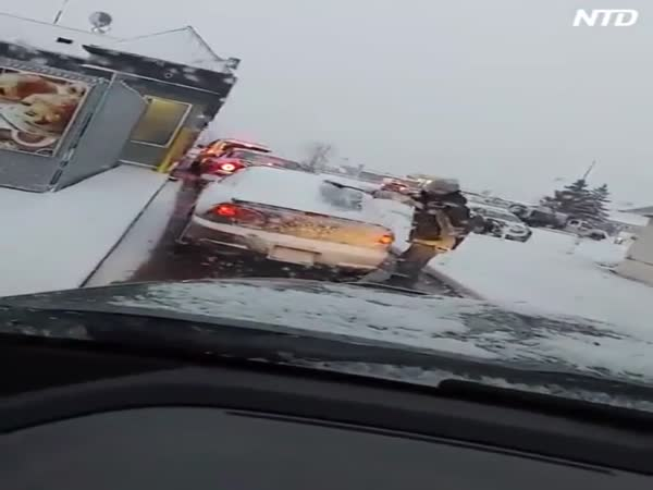 Canadian Winter Road Rage
