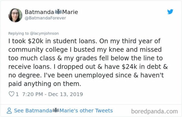 Americans Share Huge Student Loans (30 pics)