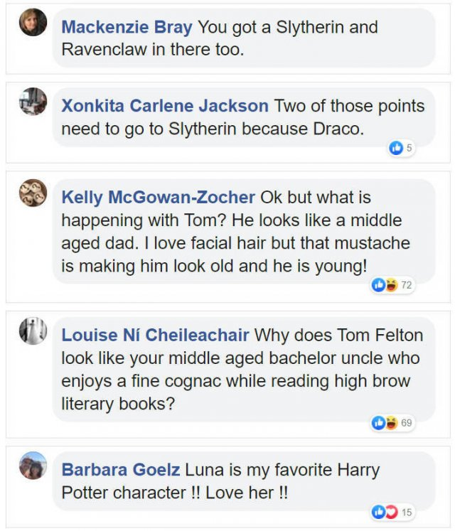 'Harry Potter' Cast Reunion: Internet Comments (6 pics)
