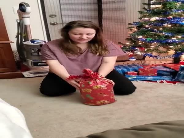Friend's Girlfriend Opening Gifts