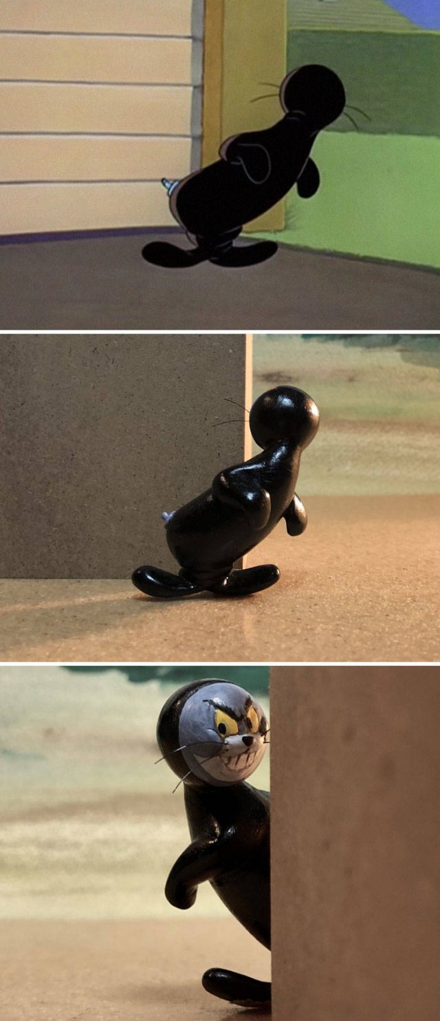 Taku Inoue Turns Funny 'Tom And Jerry' Scenes Into Sculptures (27 pics)