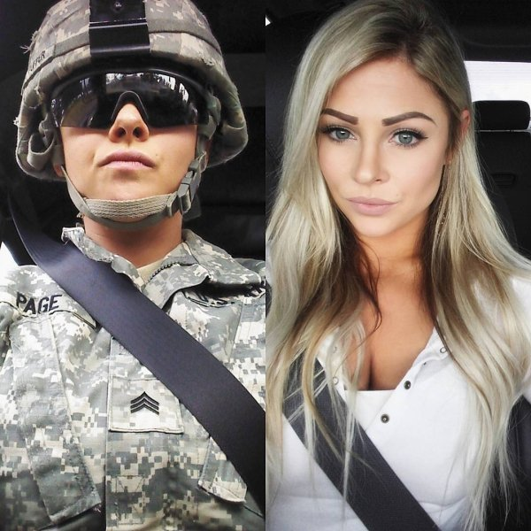 Girls With And Without Uniform (87 pics)