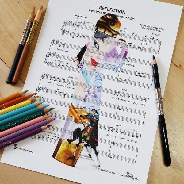 Music Sheet Drawings By Ursula Doughty (32 pics)