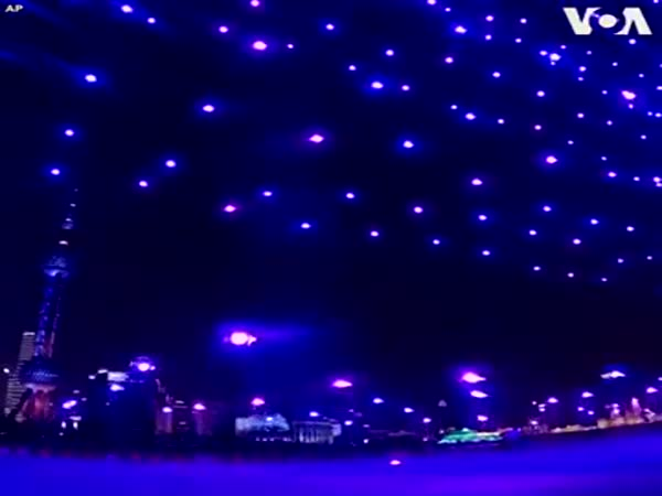 Shanghai Used Drones Instead Of Fireworks