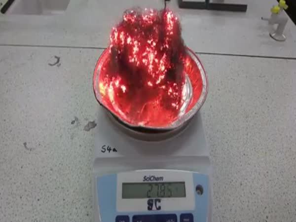 When You Burn Steel Wool It Gets Heavier