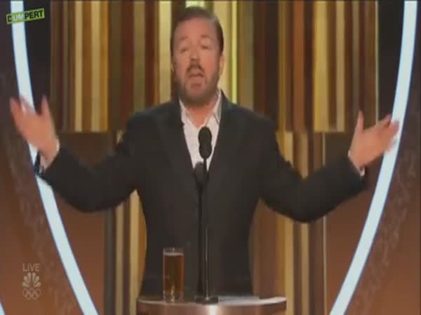 Ricky Gervais Speaking The Truth During The Golden Globes