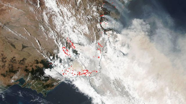 Satellite Images Show Australia's Wildfires (12 pics)
