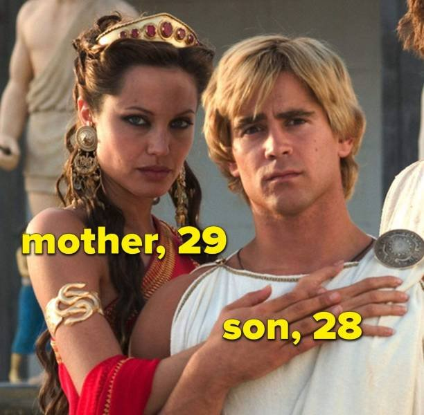 Sometimes Movie Age Gaps Differ From Real-Life Age Gaps (17 pics)
