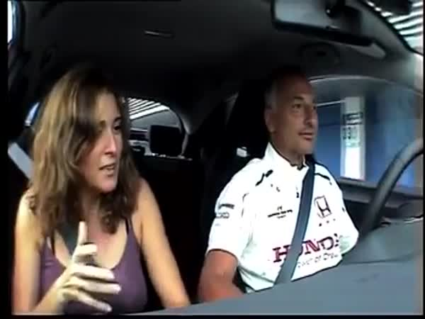 F1 Driver Takes His Wife For A Lap Around The Track