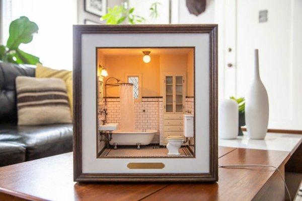 Chris Toledo Creates Miniature Scale Model Rooms (30 pics)