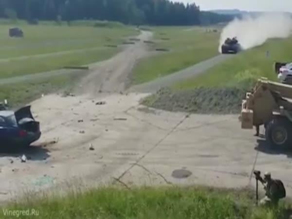 Leopard Tank Vs. BMW