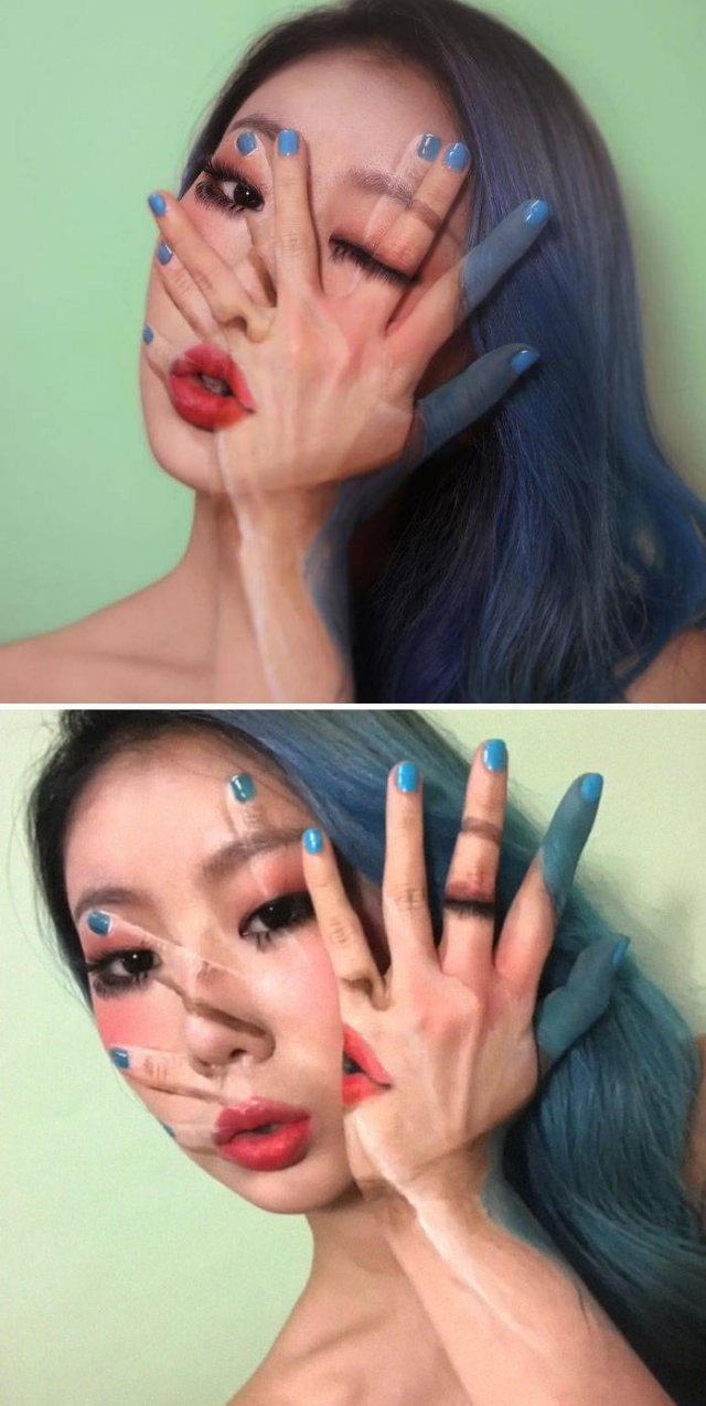 Dain Yoon Uses Her Body To Paint Creative Illusions (30 pics)