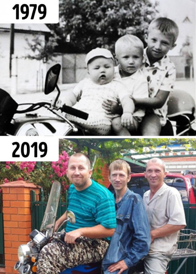 Family Photos: Then And Now (19 pics)
