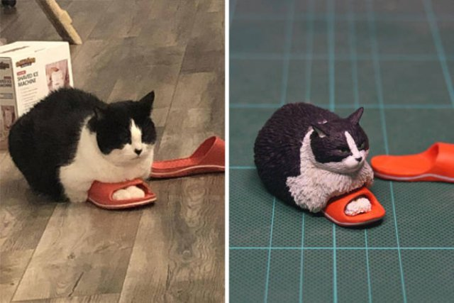Japanese Artist Turns Funny Animals Into Sculptures (30 pics)