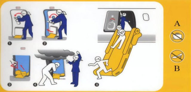 Strange Flight Safety Cards (20 pics)