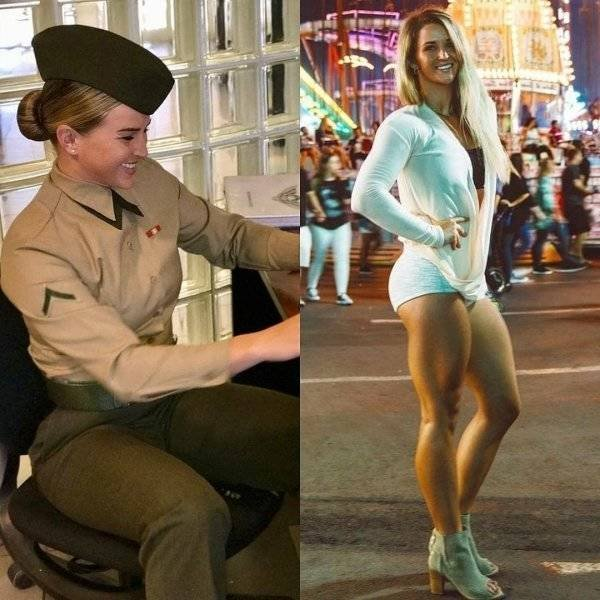 Girls With And Without Uniform (40 pics)