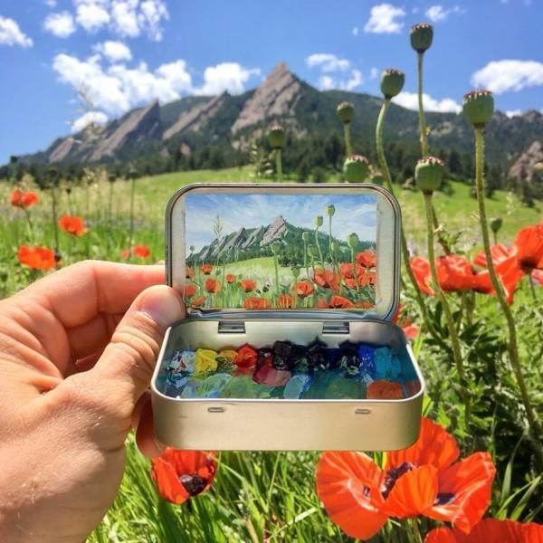 Mini Plein Air Paintings By Remington Robinson (30 pics)