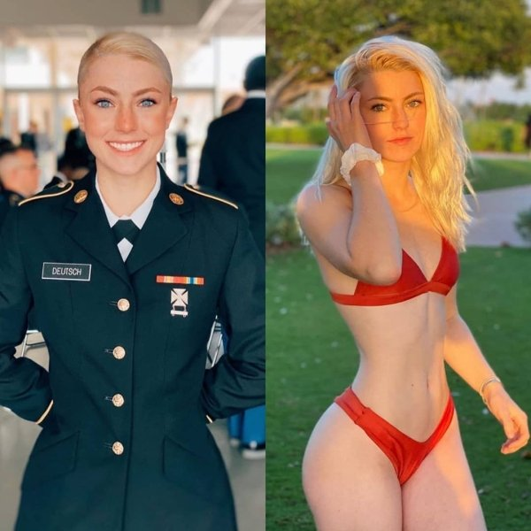 Girls With And Without Uniform (26 pics)