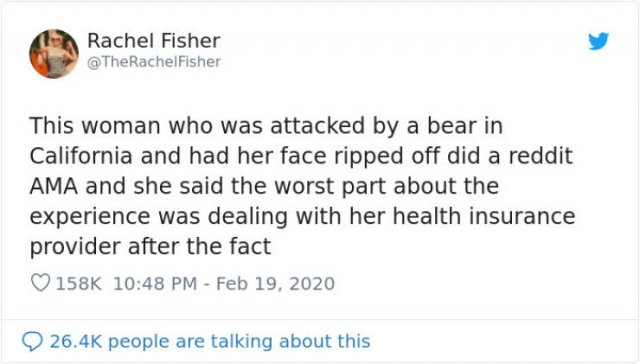 Bear Attack: Woman Tries To Get Her Health Insurance (15 pics)