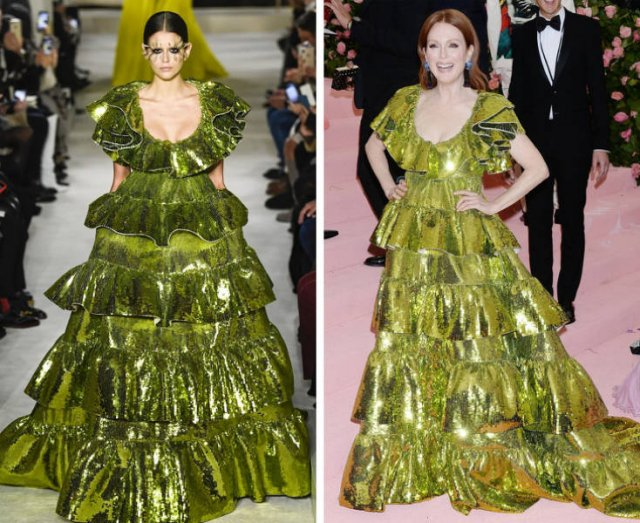 Celebrities Vs. Models: Same Outfits (20 pics)