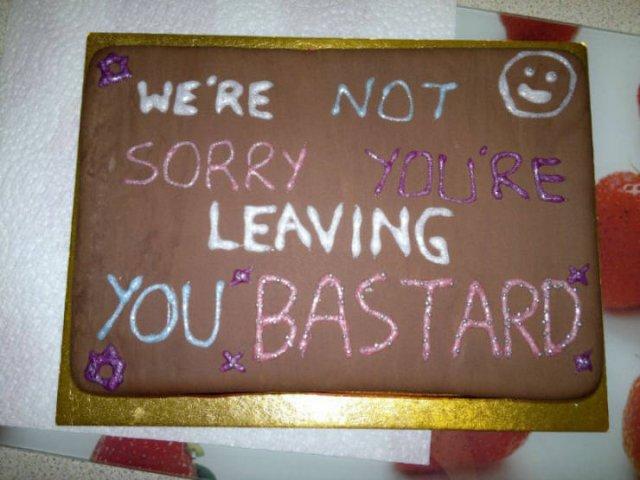 Rude Farewell Cakes (21 pics)