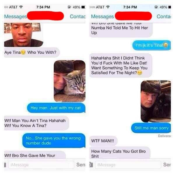 Wrong Number Texts (18 pics)