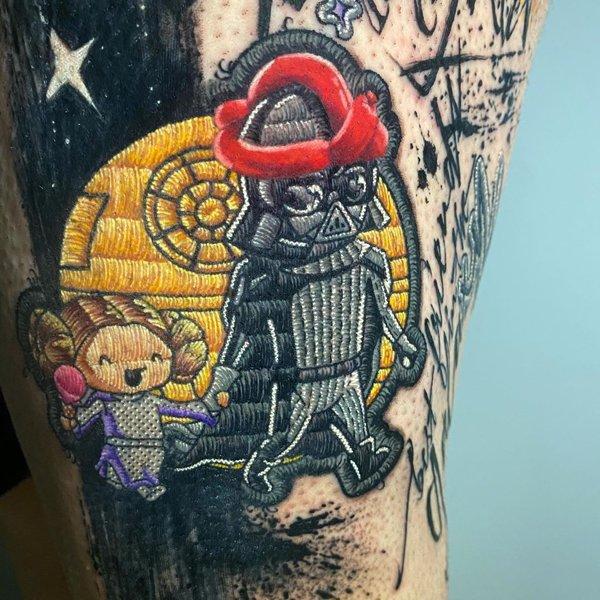 Hand-Stitched Tattoos By Duda Lozano (37 pics)
