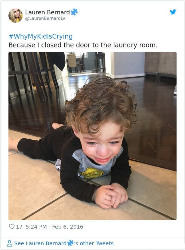 #WhyMyKidIsCrying Tweets (30 pics)