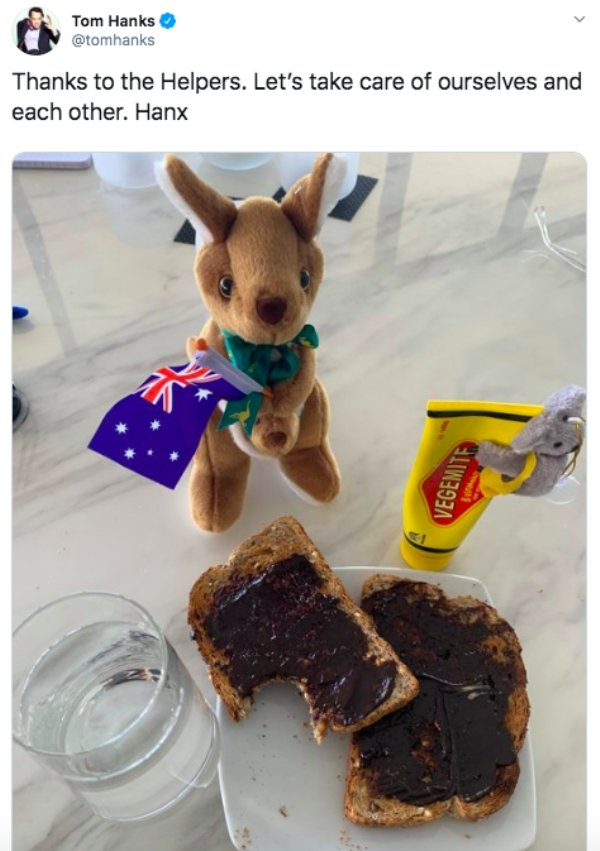 Australians' Reaction On How Tom Hanks Is Using Vegemite Under Quarantine (19 pics)