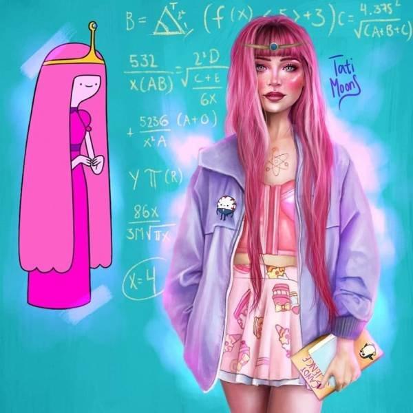 Modern Cartoon Girls By Tati MoonS (16 pics)