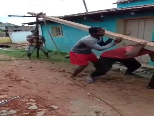 How Engineers Raise The Pole