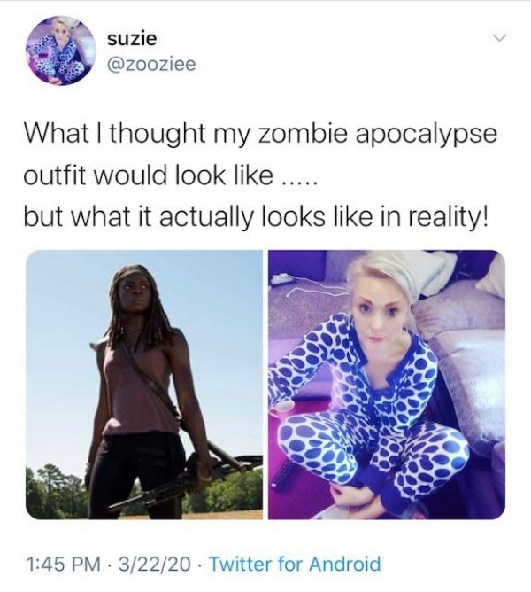 Apocalypse Outfits: Expectation Vs Reality (27 pics)
