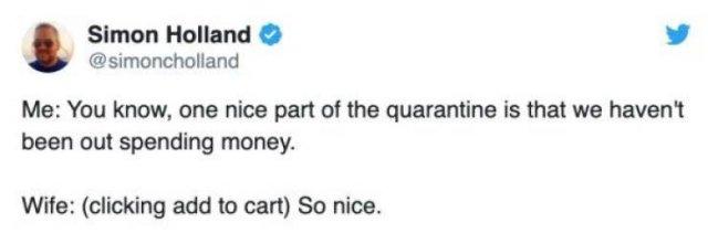 Quarantined Married Life Tweets (24 pics)