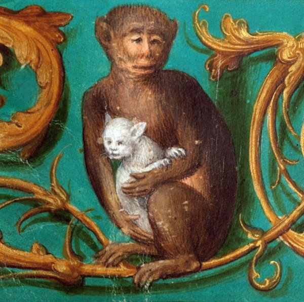 Creepy Medieval Paintings Of Babies And Animals (21 pics)