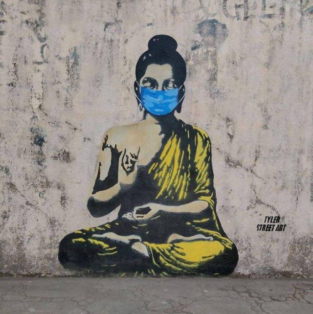 Street Art Inspired By Coronavirus (34 pics)