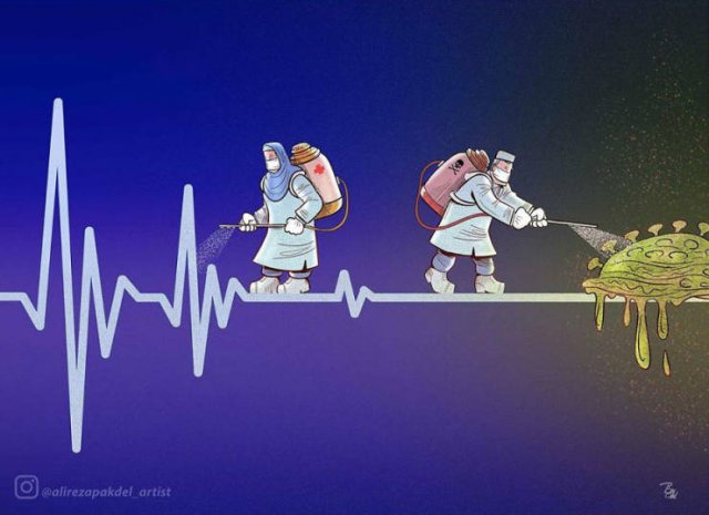 Iranian Artist Shows The Importance Of Doctors Who Fight Against Coronavirus (29 pics)