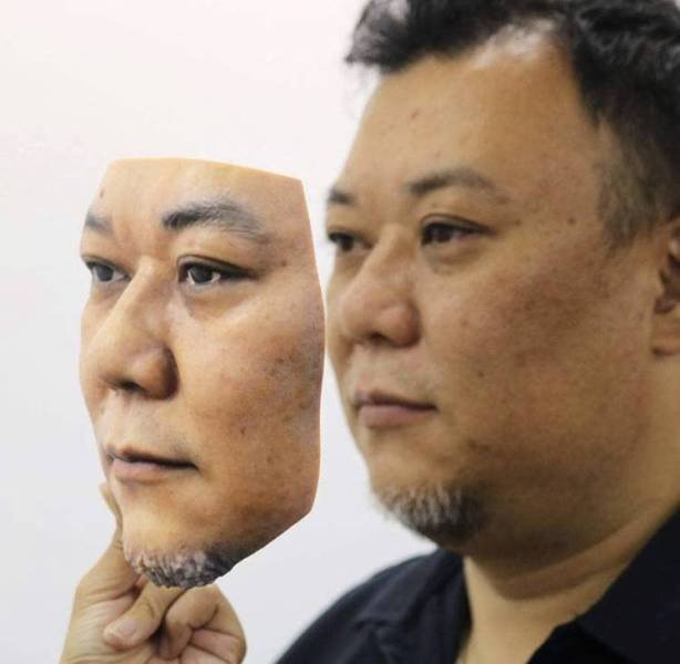 3D Printed Face (4 pics)
