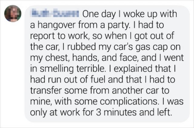 People's Excuses To Not Go To Work (23 pics)