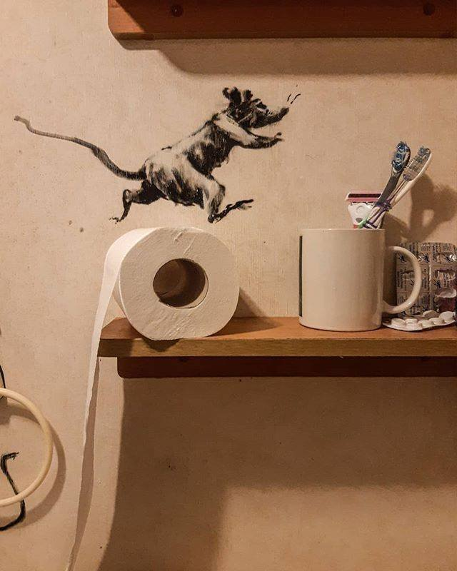 How Banksy Works From Home (6 pics)