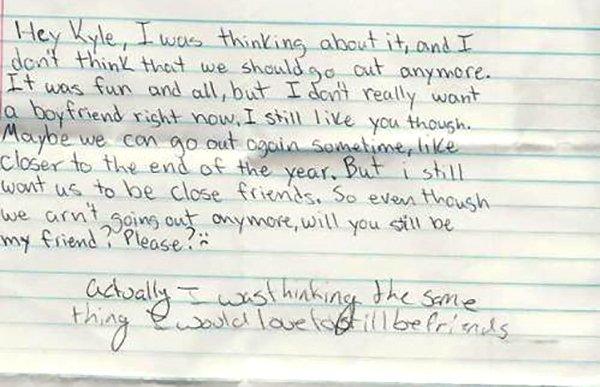 Breakup Kids Letters (28 pics)