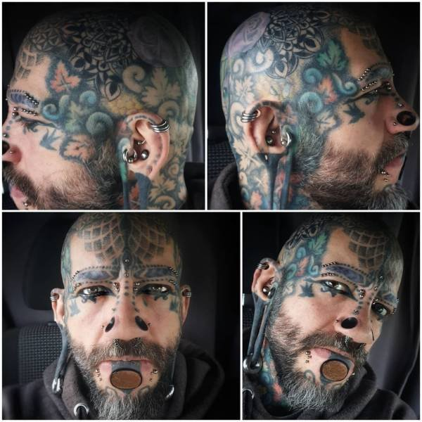 British Man Spent Over $12,000 On Body Modifications (15 pics)