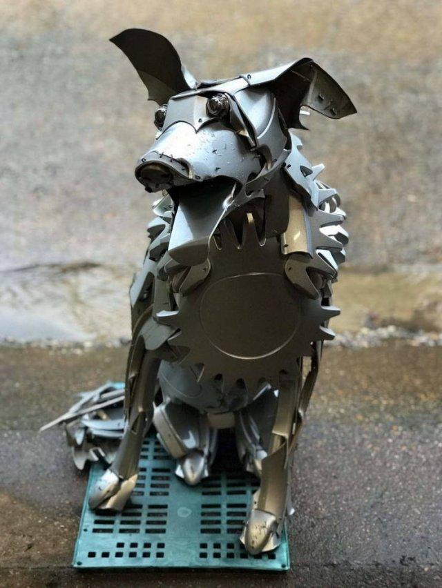 Roadside Trash Sculptures By Ptolemy Elrington (29 pics)